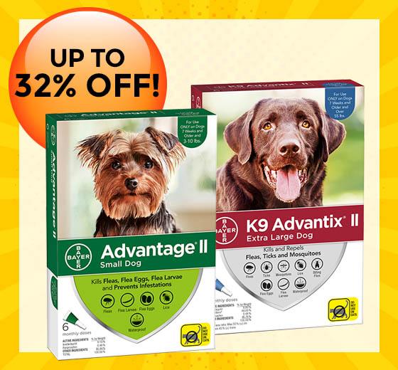 Save on Advantix® and Advantage® II