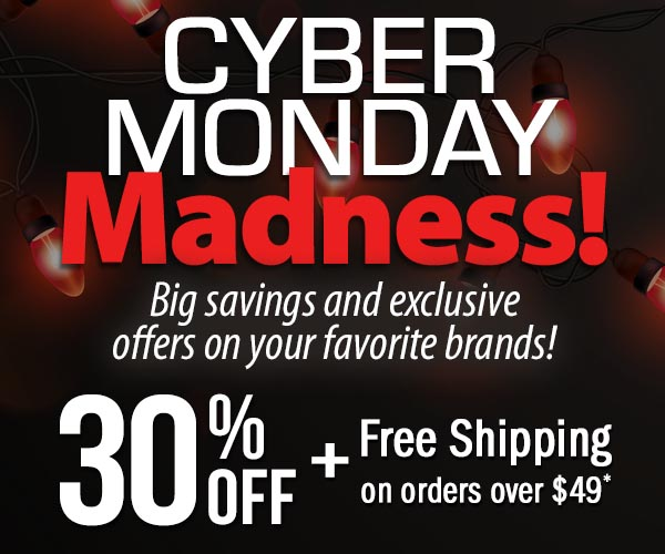Cyber Monday Madness! Big savings and exclusive offers on your favorite brands! 30% Off + Free Shipping on Orders over $49*