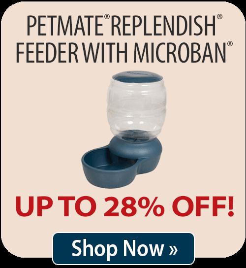 Petmate® Replendish® Feeder With Microban®