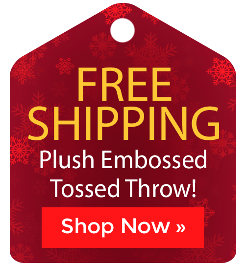 Plush Embossed Tossed Throw
