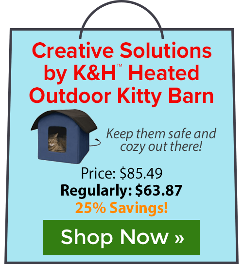 Creative Solutions by K&H� Heated Outdoor Kitty Barn