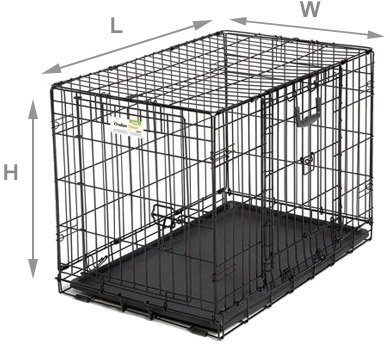 Dog crate dimensions example
