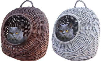 Home Bazaar Wicker Cat House