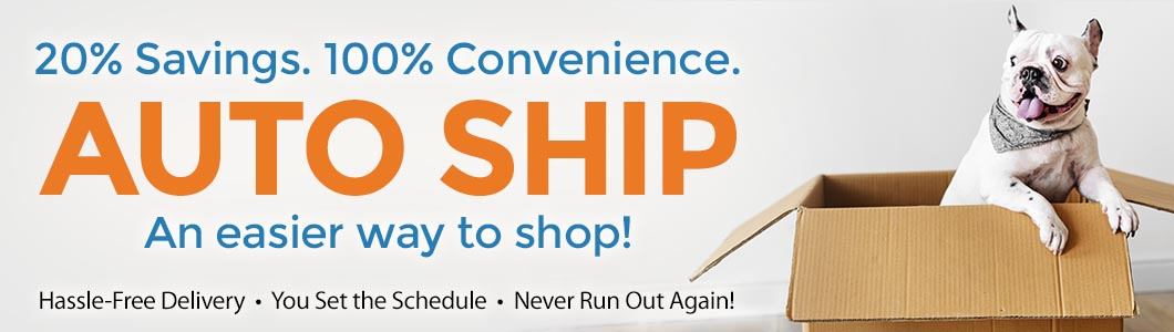 Never run out of your favorite items again! Your benefits include a 20% Auto Ship discount, hassle-free delivery, items delivered on your schedule, never running out of your favorite items again!